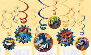 BLAZE MONSTER MACHINES Swirl Decorations Party Birthday Supplies Trucks