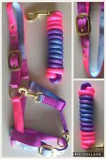 Headcollar and Lead Rope, FOAL, Unicorn Multicoloured, FREE UK Postage