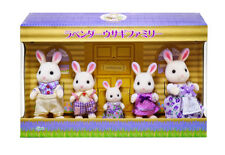 Sylvanian Families Calico Critters Lavender Rabbit Family