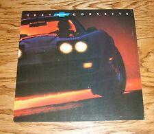 Original 1981 Chevrolet Corvette Foldout Sales Brochure 81 Chevy Coupe