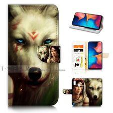 ( For Samsung A20 ) Wallet Flip Case Cover AJ21377 Spirit Wolf
