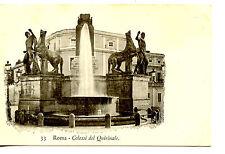 Large Statue-Fountain-Colossi del Quirinale-Roma-Rome-Italy Vintage Postcard