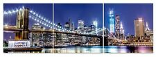 NYC Canvas Wall Art Decor - 3 Piece Set (Total 16x48 inch)