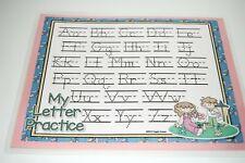 Springtime Alphabet Handwriting Dry Erase Laminated Full Sheet Mat Brand New!