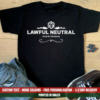 Lawful Neutral Alignment T Shirt Dungeons and Dragons D&D Fathers Day Gift DnD