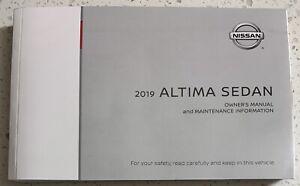 2019 NISSAN ALTIMA SEDAN OWNERS MANUAL OPERATORS USER GUIDE BOOK
