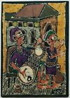 YINKA ADEYEMI ORIGINAL SIGNED AFRICAN BATIK ART OF MUSICIANS DRUMMING & CLAPPING