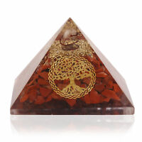Extra Large Red Jasper Stone Orgone Pyramid Protection Crystal Healing Energy