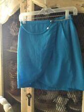 H& M Women's Blue Zip sided Skirt NEW Size 6(#266a)