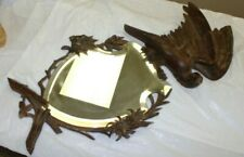 Antique Black Forest The Best Carved Mirror Easel Style Carved Flowers & Eagle?