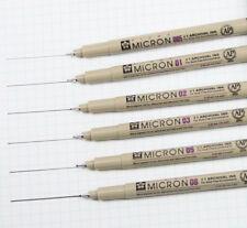 6-Piece Pigma Micron Ink Pen Set, Black, Arts And Crafts Supplies