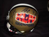 New Orleans Saints Stars Signed SB XLIV FS Helmet PROOF Drew Brees Payton Team +
