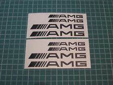 Set of 8 AMG Decal sticker vinyl caliper brake custom white/black/red