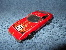 """1999 HOT WHEELS FERRARI 365 GTB/4 RED #21 W/ FLAMES 1:64 DIECAST 3"""" CAR - NICE"""