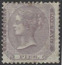 India Queen Victoria 1865 8p mauve MH white gum