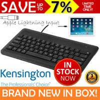 NEW Kensington Wired iPad Keyboard Lightning Connector Black Air Pro Mini 72447