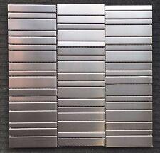 """Stainless Steel Metal Mosaic Wall Tiles Kitchen Backsplash 11 3/4"""" x 11 3/4"""""""
