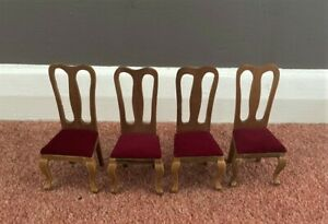 1/12th scale doll house furniture - dining room chairs
