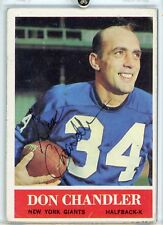 Don Chandler New York Giants Autograph 1964 Topps