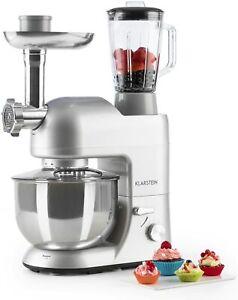 Klarstein Lucia Argentea Robot Of Kitchen Universal Blender Kneader Mincer