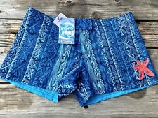 NWT CRAZY SHIRTS Board Shorts Size 10 REVERSIBLE Surf Womens Blue Hawaii $62 36""