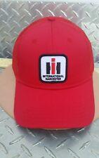 INTERNATIONAL HARVESTER IH PATCH ALL RED TWILL MESH TRUCKER LOGO HAT CAP NEW cih