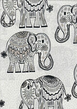 Jules & Indigo elephants half metre 100% cotton quilting fabric- 50 x 110 cms