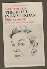 Paul Scofield. Hotel in Amsterdam. Drawings by Don Bachardy. Theatre1968 d2.381B