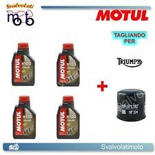 TAGLIANDO FILTRO OLIO + 4LT MOTUL 5100 10W40 TRIUMPH BONNEVILLE 865 2008
