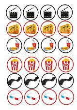 24 Edible cake toppers decorations FILM CINEMA THEATRE MOVIE THEME