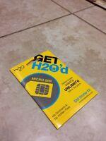 H2O Wireless Prepaid Micro SIM Card with First Month $30 Plan(Read Description)