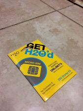 H2O Wireless Prepaid Micro Sim Card with First Month $30 Plan(Read Description)