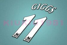 Manchester United Giggs #11 PREMIER LEAGUE 97-06 White Name/Number Set