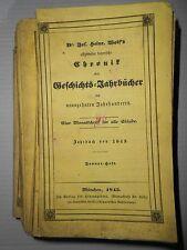 Joseph Heinrich WOLF Michelfeld Pfaffenhofen Allg bayer. Chronik Donauwörth 1843