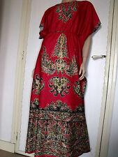 PUR VINTAGE 70  ROBE LONGUE CAFTAN INDIEN /38/40/ BOHO PAISLEY DRESS /