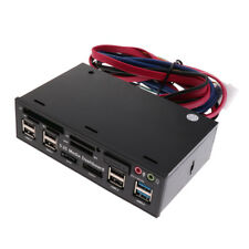 "Hub USB3.0 / 2.0 5.25 ""Muiti-function Media Dashboard Panel frontal Lector"