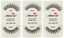 3 Pairs AmorUs 100% Human Hair False Eyelashes # 38 compare Red Cherry