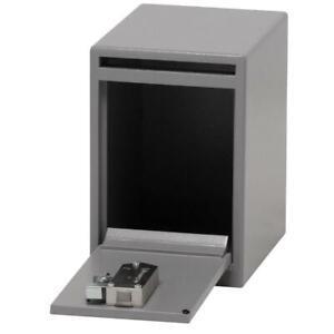 SentrySafe Drop Slot Safe Key Lock Under Counter Anti-Fish Hoppers 0.39 cu. ft.