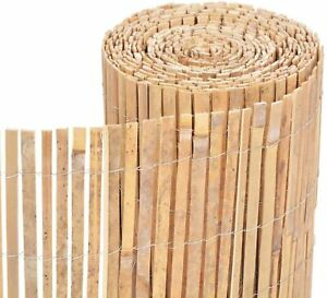 Bamboo Slat Natural Garden Screening Fencing Fence Privacy Screen Roll Panel