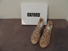 Oxford Leather Wedges - Tan suede size 6 (Never Worn)