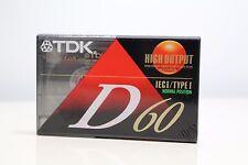 TDK D60 High Output Slimline EcoCase Blank Cassette Tape