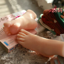 1 Pair Realistic Silicon Simulation Lifesize Child Foot Model Sock Display Prop