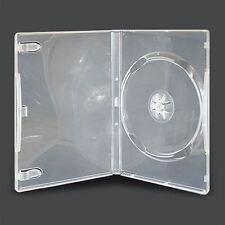 50x SINGOLO TRASPARENTE Dvd Casi di plastica rigida 14 mm spina dorsale Manica Coperchio Trasparente