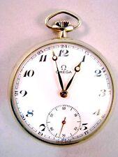 Omega Taschenuhr in Edelstahl Pocket Watch aus dem 40er Jahren