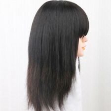 Women 100% Real Human Hair Topper Toupee Clip Hairpiece Top Wig Chic NEW Sale