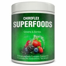 ChiroFlex Superfoods Green Supplement with Berries and Curcumin Powder