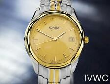Beautiful Rollei Swiss Made Gold Plated Stainless Steel Men's Dress Watch J7173