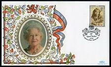 Benham Silk Cover for  95th Birthday of HM The Queen Mother (2017/06/21#03)