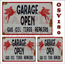 Weathered Waterslide Building Sign Decals Mobil Pegasus Garage O Scale Osv170