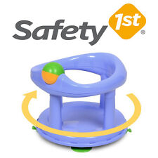 Safety First Swivel Baby Bath  Rotating Ring Seat Bathtub Safety 1st Pastel Blue